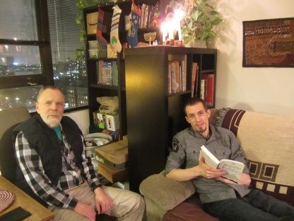 At Rene and Adam's apartment
