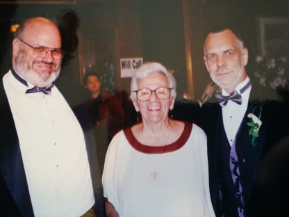 With friend Ethel Kotovsky