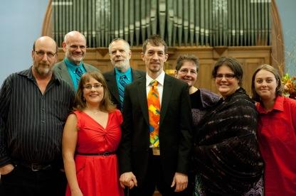 Deke, Nathan, Renee, Mel, Adam, Leah and Charna (L to R)