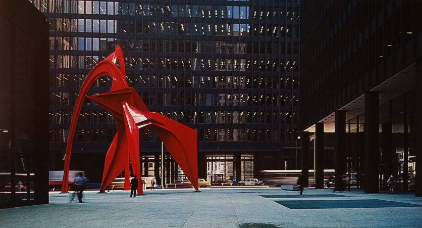 Mel led work on the placement of the Calder Flamingo at Federal Plaza on S. Dearborn, Chicago