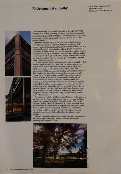 TRW Environmental Empathy Arch Record Nov 1986