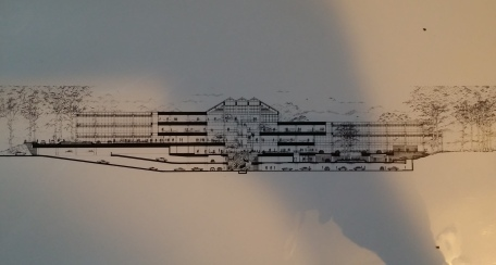 TRW side view drawing including lower level parking